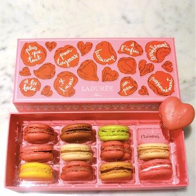 A La Folie Heart Macaron Gift Box