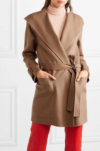 Lista Belted Wool-Blend Coat