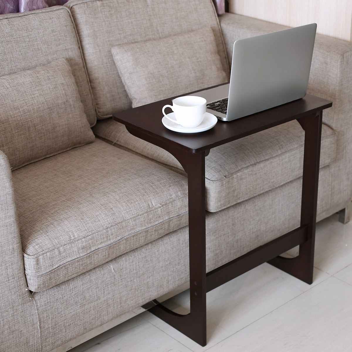 HOMFA Bamboo Couch Laptop Desk