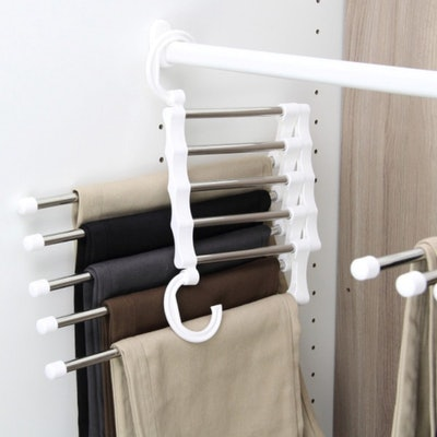 Brent's Grocery 5-in-1 Portable Stainless Steel Pants Rack