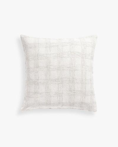 Checked Cotton Pillow Cover