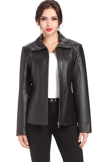 BGSD Women's Tina Lambskin Leather Jacket