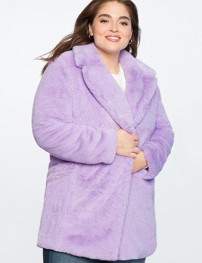Lilac Faux Fur Coat
