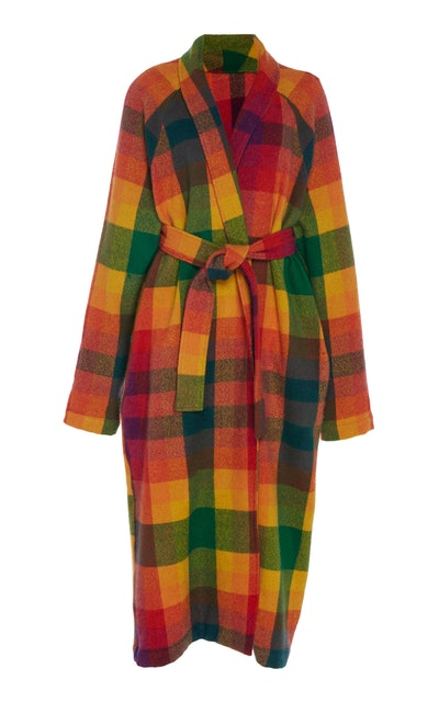 Tartan Cashmere Overcoat