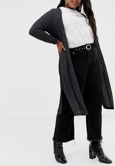 Midi Cardigan In Black