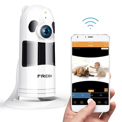 FREDI Baby Monitor WiFi Wireless Camera 1080P HD Security Camera with Two-Way Talking, and Infrared ...