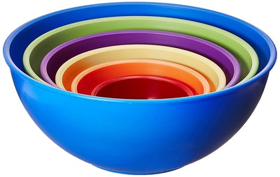 Gourmet Home Products Nested Mixing Bowls (Set Of 6)