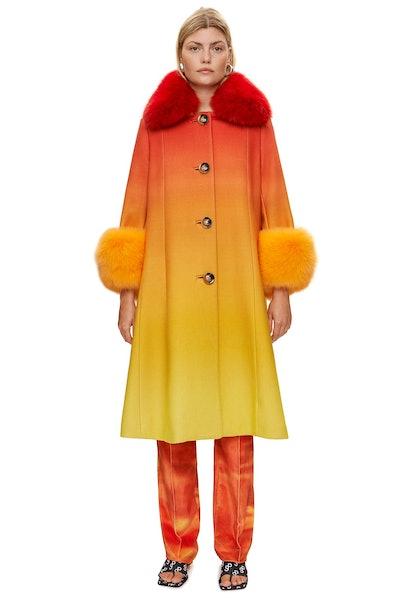 Yvonne Ombré A-Line Coat