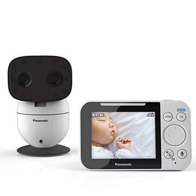 Panasonic Video Baby Monitor with Remote Pan/Tilt/Zoom, Wide-Angle Lens, Extra Long Audio/Video Range, 2 Way Talk and Lullaby or White Noises