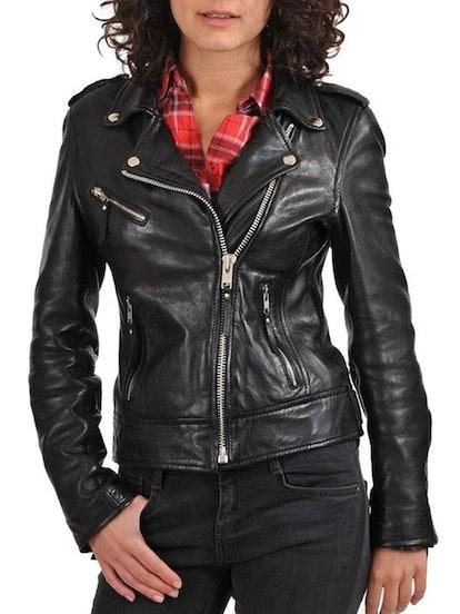 World of Leather Women's Lambskin Leather Jacket