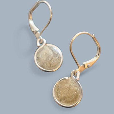 Gold or Silver Resin Drop Earrings