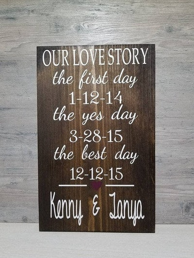 Our Love Story - Wedding Sign