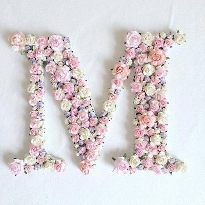 Custom order floral letter