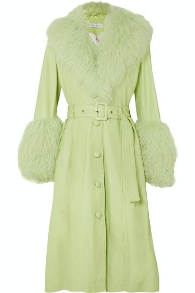 Fur-Trimmed Foxy Coat