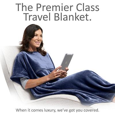 Travelrest 4-in-1 Premier Class Travel Blanket with Pocket