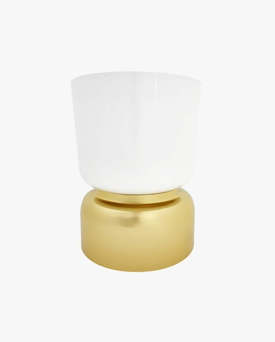 Large Flowerpot with Gold Base