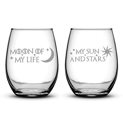 Premium Game of Thrones Stemless Wine Glasses