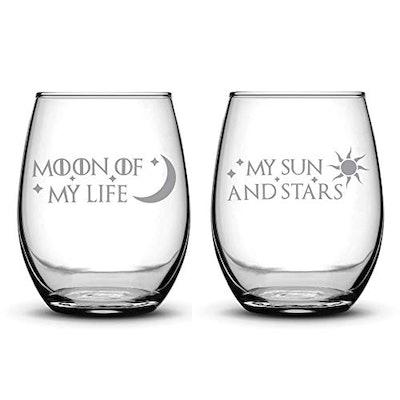 Premium Game of Thrones Stemless Wine Glasses