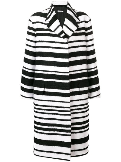 Graphic Striped Coat