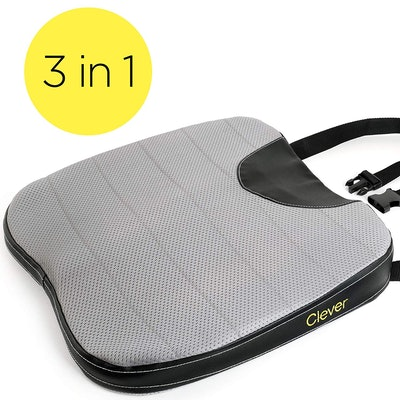 Clever Yellow Car Seat Cushion with Strap