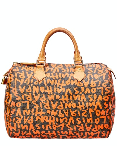 Louis Vuitton Limited Edition Stephen Sprouse Orange Graffiti Monogram Canvas Speedy 30