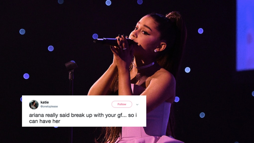 "Dump Ur Girlfriend Im Bored: The Tweets About Ariana Grande's ""Break Up With Your"