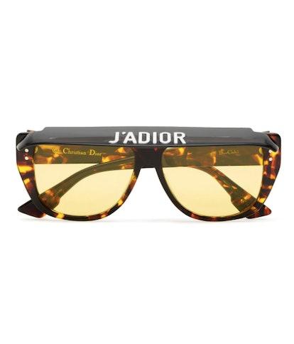 Club 2 Tortoiseshell Visor Acetate Sunglasses