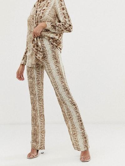 Snake Detail Print Pants