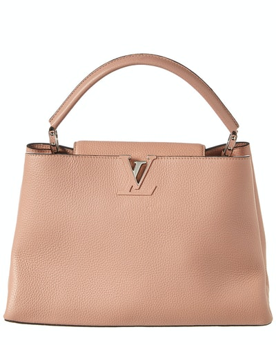 Louis Vuitton Pink Taurillon Leather Capucines MM