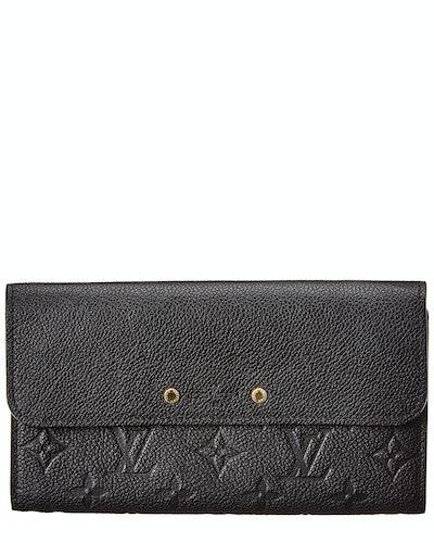 Louis Vuitton Black Monogram Empreinte Leather Pont Neuf Wallet