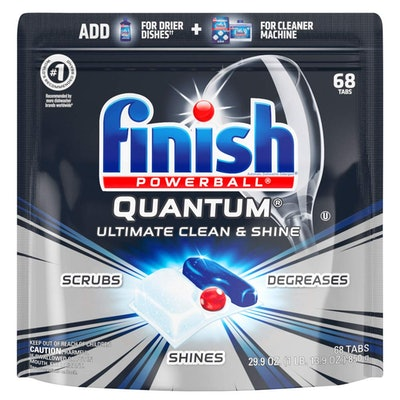 Finish Quantum Ultimate Clean & Shine Dishwashing Tablets, 68 Count