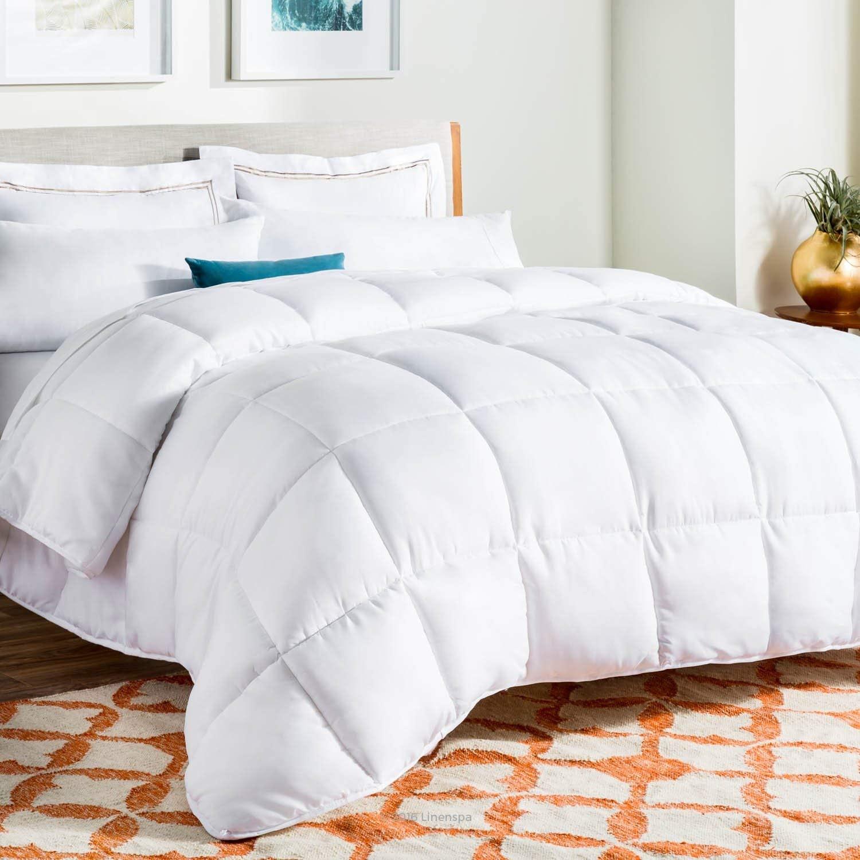 100/%Cotton Hungarian Down Alternative Comforter Baffle Box Winter Duvet Insert