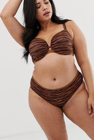 Savage x Fenty curvy animal print hipster knickers in toffee tiger