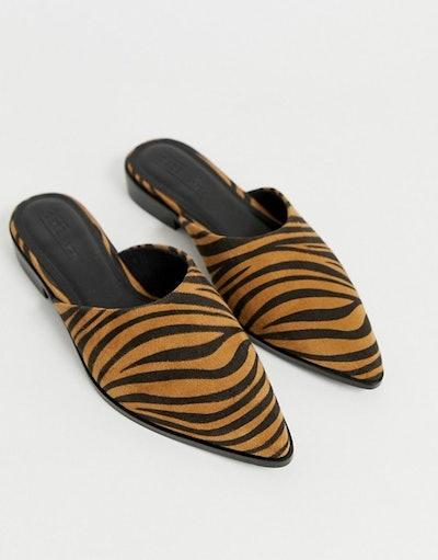Mico Mules In Tiger Print