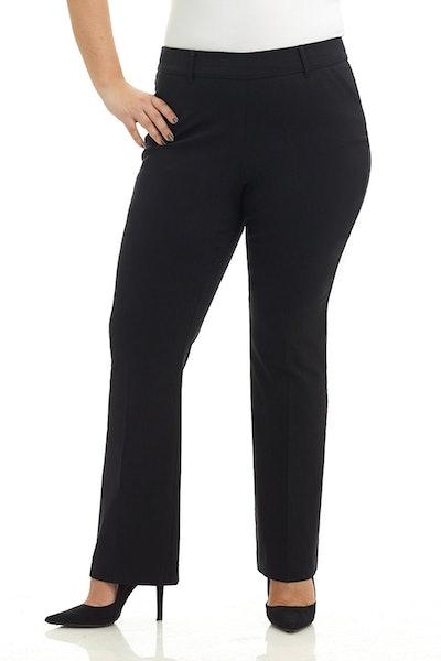 Rekucci Women's Barely Bootcut Stretch Pants