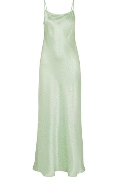Holly Silk Charmeuse Jacquard Dress