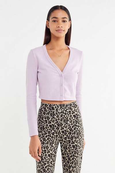UO Cole Button-Down Cropped Cardigan