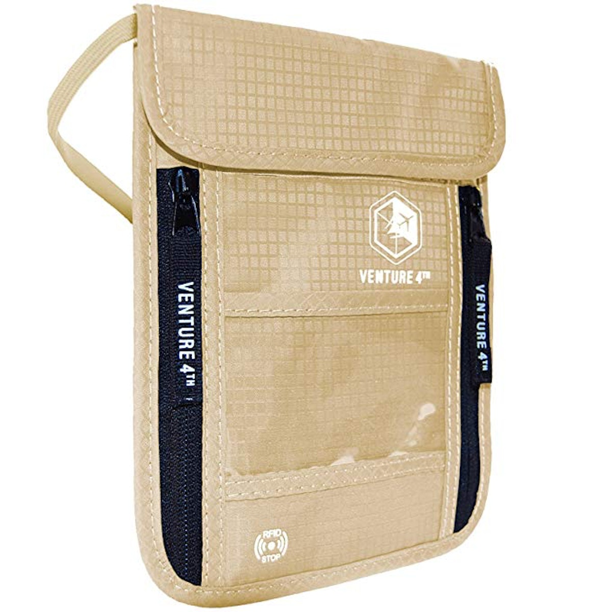 Venture 4th Travel Neck Pouch Wallet with RFID Blocking