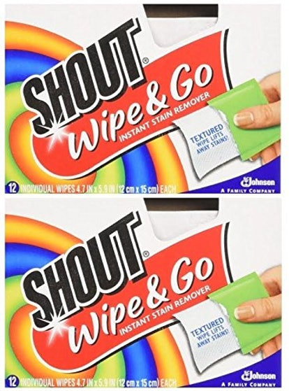 Shout Wipe & Go Instant Stain Remover, 24 Wipes (2-Pack)