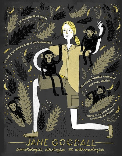 Women In Science: Jane Goodall Poster
