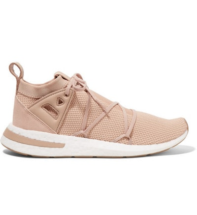 Arkyn Suede And Rubber-Trimmed Stretch-Knit Sneakers