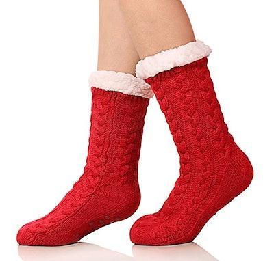 SDBING Women's Fleece-Lined Winter Knee Highs