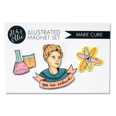 Marie Curie Magnets (set of 3)