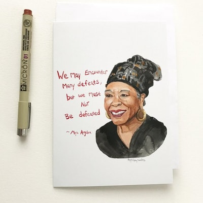 Maya Angelou Portrait Greeting Card