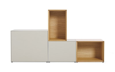 Forma Medium Mixed Set, Oak / Light Grey