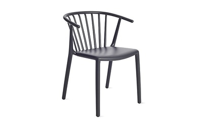 Woody Armchair, Charcoal Grey