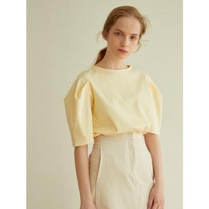 atre Volume Sleeved T-shirts_Yellow