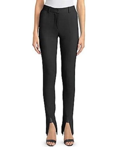 Black Front Split Skinny Trousers