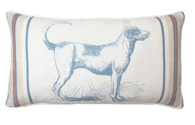 Bee & Willow Home Hound Oblong Throw Pillow in Navy