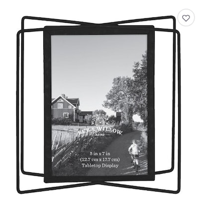Bee & Willow Home 5-Inch x 7-Inch Metal Photo Frame in Black